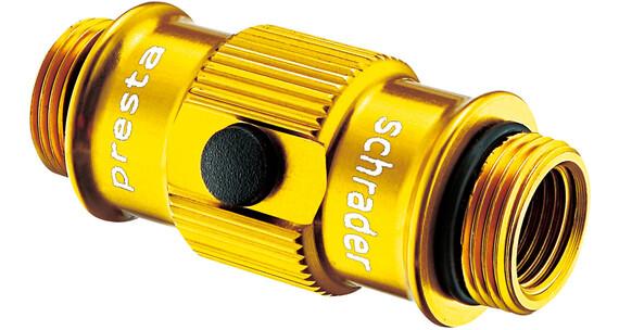 Lezyne ABS Flip-Thread Chuck für Swivel/Micro Floor/Standpumpen gold-glänzend